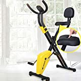 CKR Multi-Functional <span class='highlight'>Exercise</span> <span class='highlight'>Bike</span> with Backrest <span class='highlight'>Spin</span>ning, <span class='highlight'>Home</span> Soft Cushion Bicycle, Folding without Land
