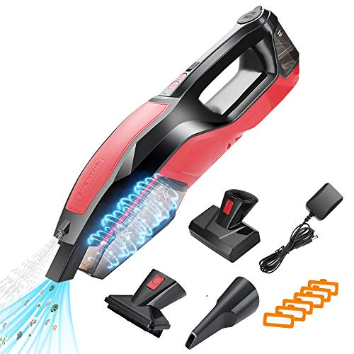 MANLI Cordless Compact Carpet Cleaner, Wet and Dry Vacuum, Power Pet Carpet...