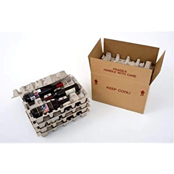 Amazon Com Wine Shipping Boxes Foam Shipper 1 Bottle 6 Boxes 6 Foam Containers 1boxcool Office Products