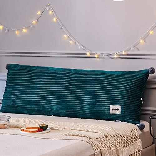 Almohada de cuña de Cama, Soporte de posicionamiento del Respaldo, Cierre la Brecha Entre su colchón y la cabecera (Color : Green, Size : 120cm x 50cm (3.9ft x 1.6ft))