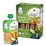 Gerber Organic Coconut Water Splashers, Mango Peach Carrot, 3.5 Fl Oz (Pack of 16)