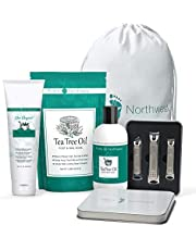 Purely-Northwest-Perfect-Gift-Set-Includes Tea Tree Wash, Soak,Cream and Nail Clippers. Soothes Sore, Tired Calloused Feet
