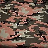 Jersey Vera, camouflage, rosa (50cm x 160cm)