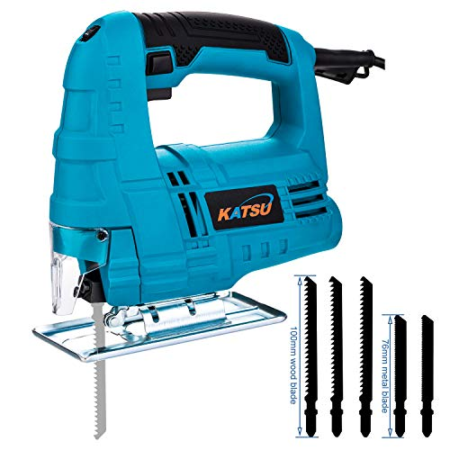 KATSU Electric Jigsaw 400W Variable Speed Plastic Wood Steel Cutting