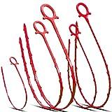 Musmu - Scolare i capelli a serpente 5 in 1 con 5 confezioni di scarico, strumento di pulizia per rimuovere gli intasi, colore: rosso