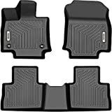 OEDRO Floor Mats Compatible with 2019-2021 Toyota RAV4, Unique Black TPE All-Weather Guard Includes 1st and 2nd Row Full Set Liners