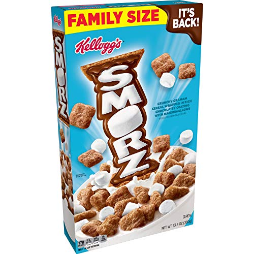 Kellogg#039s Smorz Breakfast Cereal Original Good Source of 8 Vitamins and Minerals Family Size 134oz Box