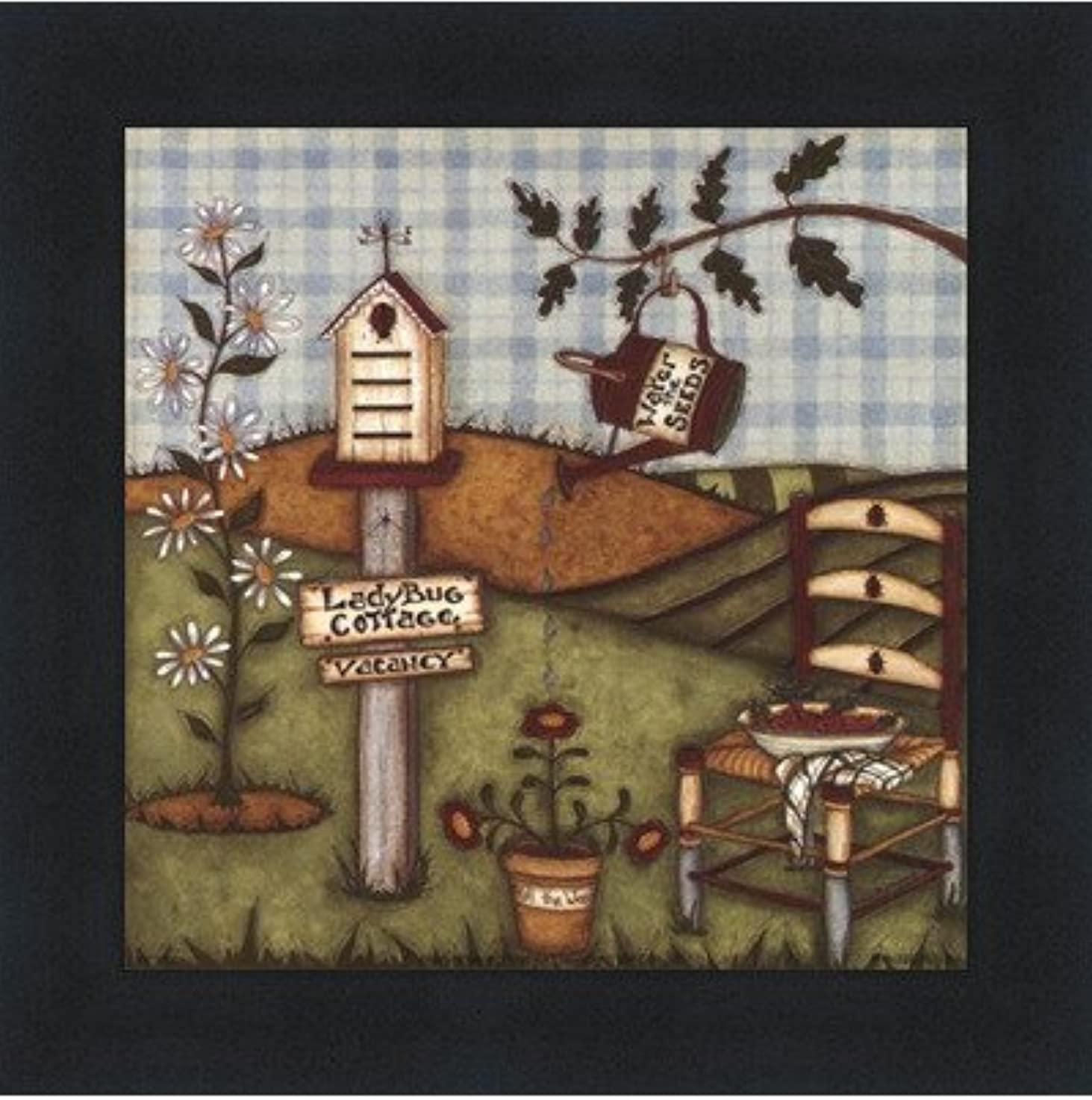 朝ピッチ世界的にてんとう虫Cottage by Robin Betterly?–?5?x 5インチ?–?アートプリントポスター LE_416274-F101-5x5