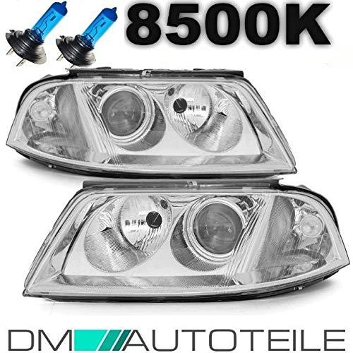 DM Autoteile Passat 3BG 3B Klarglas Scheinwerfer Set 00-05+ XENON OPTIK BIRNEN + GARANTIE