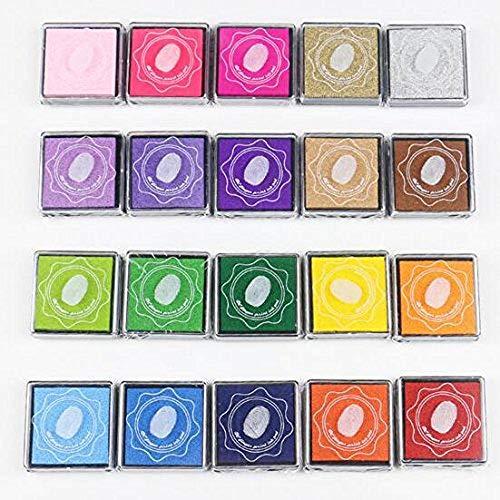 Rainbow Craft - Almohadillas de tinta para niños, para utilizar con los dedos, para...
