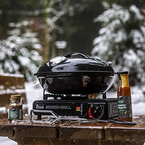 Activa Meisen Grill Campingkocher Meisengrill Campinggrill Gaskocher Camping Gaskocher Outdoor Gaskocher Gaskatuschen Kocher mit Überhitzungsschutz und Tragekoffer Kocher Grill Garer Smoker
