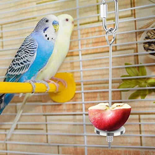 AMONIDA Gabel für Vogelfutterhalter, Geschenk für Papageienliebhaber, hochwertiges Edelstahlmaterial, Pin-Clip für Lebensmittelzuführungsgeräte, Papageien-Fruchtgabel, für Pet Sotre