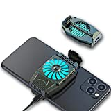 EATHNDY Mobile Phone Cooler Rechargeable Cooling Fan Cell Phone Radiator for Playing Games Watching Videos with LED Light, Compatible for iPhone & Android Smartphones (Shade)