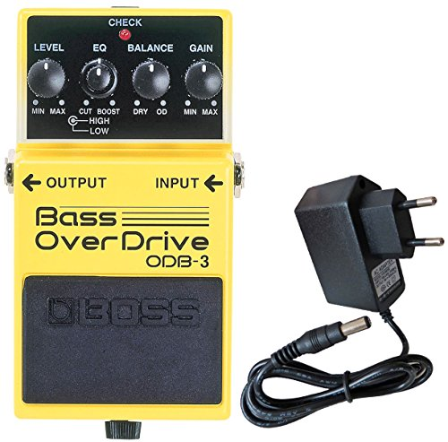 Boss ODB de 3Bass Overdrive Verzerrer Efecto dispositivo para Bass + Fuente Keepdrum