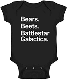 Pop Threads Bears Beets Battlestar Galactica Funny Infant Baby Boy Girl Bodysuit