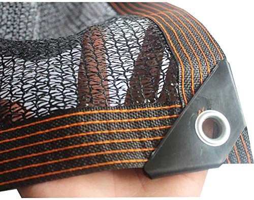 BRFDC Vela de Sombra Malla de Sombra con Ojales 50% -60% Paño De Sombra para Cubierta De Plantas Perrera Invernadero (Color : Negro, Talla : 2x6m)