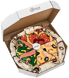 Pizza Socks Box - Seafood Pepperoni Italian - Unisex - 4 Pairs of Socks - Funny Gift Idea!
