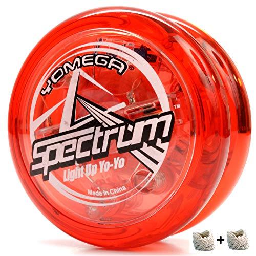 Yomega Spectrum beleuchtet den Fireball-Transaxle YoYo mit LED-Leuchten für mittlere, fortgeschrittene und Profi Level Seitentrickspiele + zusätzliche 2 Seiten