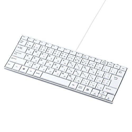 サンワサプライ 有線USBスリムキーボード テンキー無し パンタグラフ 85キー日本語109A配列 ホワイト SKB-SL18WN