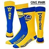 For Bare Feet Golden State Warriors We are Warriors Big Top Mismatch Crew Socks Size Medium 5-10