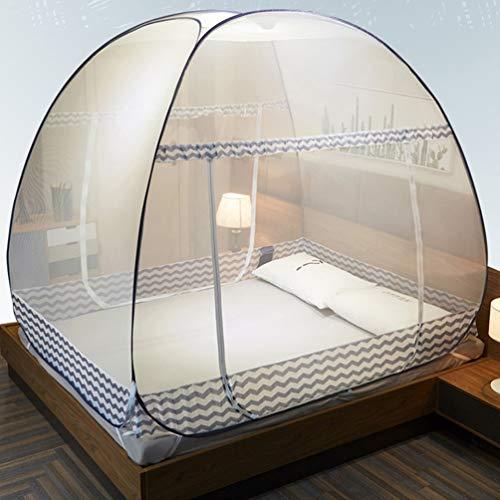 WOLJW Muggennet, Outdoor Yurt Gratis Installatie Tweepersoonsbed Volwassen Draagbare Dubbele Deur Tent Thuis Outdoor (200L X 180W X155H)