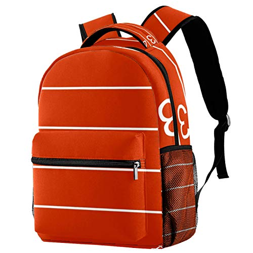 Runway Orange Illustration Backpack for Teens School Book Bags Travel Casual Daypack