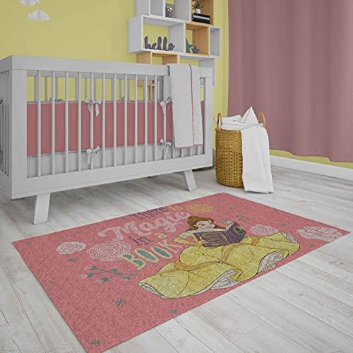 Vivi Casa Tappeto Disney Antiscivolo Pelo Rasato 80 x 120 cm (Principessa)