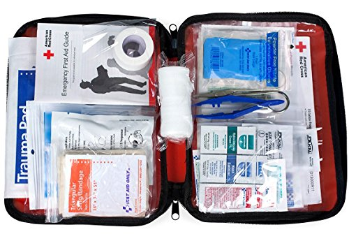 first aid only made first aid kits American Red Cross 9165-RC First Aid Only Be Red Cross Ready First Aid Kit, 73 Pieces