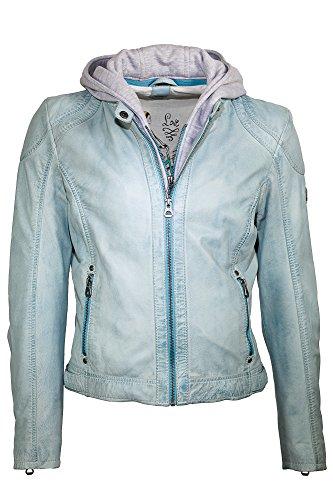 Gipsy by Mauritius Damen Lederjacke Bikerjacke ANGEL LAMAS - Light Blue (S)