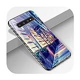 Phoncase Coque de protection en verre trempé pour Samsung S10 S9 S8 S7 S10E S20 Ultra A51 A71 A50...