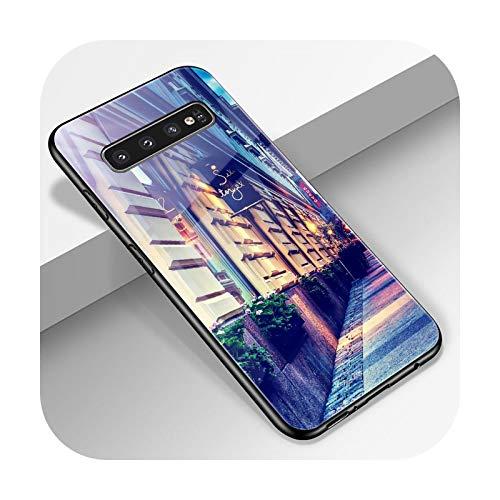 Phonecase W3452-S9 - Carcasa para Samsung S10, S9, S8, S7, S10E, S20, Ultra A51, A71, A50, A40, A20E, Note 20, 10, 9, 8 Plus, cristal templado, parte trasera