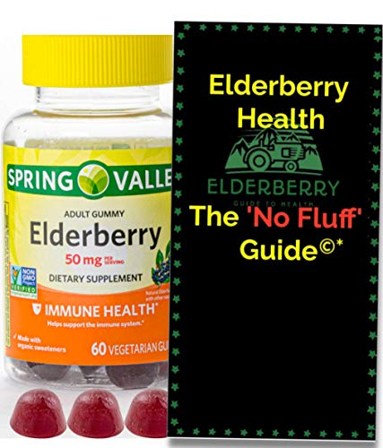 Elderberry Gummies, Dietary Supplement, 50mg from Spring Valley. +