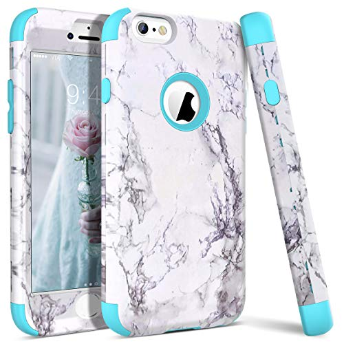 WE LOVE CASE for iPhone 6S Case iPhone 6 Case Marble Design Shockproof 3 in...