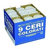 Cereria di Giorgio Risthò Ceri, Cera, Bianco, 5x5x12 cm, 9 unità