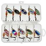 10 unids/lote Cebos duros Spinners Metal Vib Pesca Señuelo Set Wobblers Conjuntos con Caja Agudos Ganchos Aparejos de Pesca al aire libre