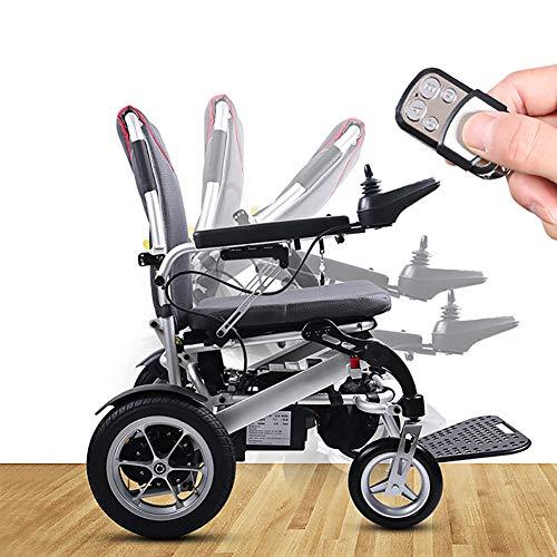 ZDYLM-Y Elektrischer Rollstuhl Faltbar, Passend für jedes Auto Kofferraum, Aluminiumlegierung Tragbare Power Compact Mobility Aid Rollstuhl