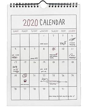 2020年 カレンダー 壁掛け 21cmx29cm