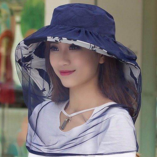DASENLIN Moskito Hut, Schleier Hut, Im Freien Weiblichen Anti-UV Gesicht Helm, Angeln Sonnenhut, Moskitonetz Schirm, Hut Gesichtsmaske und Bienennetzkappe.