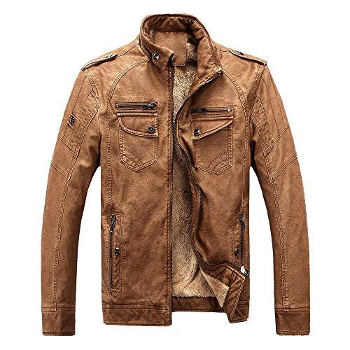 manadlian Homme Blouson Léger Manteaux Style Militaire Classique pour Hommes Pull Automne Jacket Couleur Uni Manteau Casual Affaires Manches Longues Slim Fit Veste Chaud Blouse Grande Taille