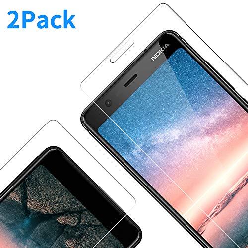 Vkaiy Nokia 5.1 Pellicola Protettiva in Vetro Temperato - Nokia 5.1/ 5.1 2018 Pellicola [Durezza 9H] [Alta Trasparente] [Nessuna Bolla] [Anti-Impronte] [ Antigraffi], Facile da Installare, [2 Pezzi]