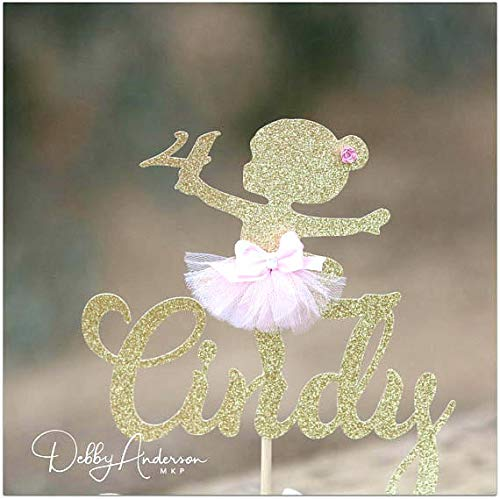 Ballerina Tortenaufsatz für jeden Alter, Name Tutu Dekorationen, kleine Ballerina Geburtstag Party Prinzessin Ballerina Baby Shower Mädchen Geburtstag Party