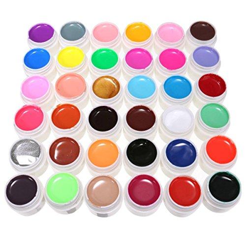 DANCINGNAIL Professionnel 36Pcs 36 Couleurs Gel UV Pure Ongles Décoration Set Manucure Pour DIY Nail Art Design
