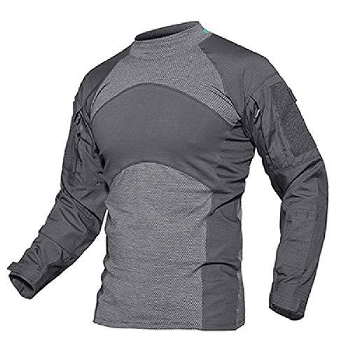 Los hombres de verano táctico camiseta ejército combate Tops manga larga militar camiseta paintball caza camuflaje ropa
