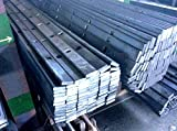 Barra perforada en hierro forjado, acabado rugoso....