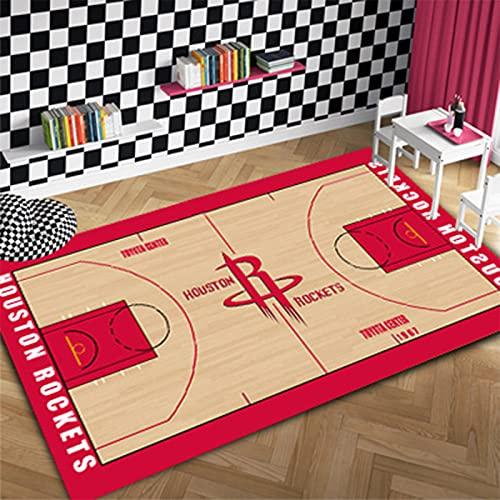 Rockets Team Home - Alfombra antideslizante de fibra de poliéster para el hogar, alfombra de yoga, alfombra antideslizante para niños, rejillas, dormitorio, cohetes 2-60 x 90