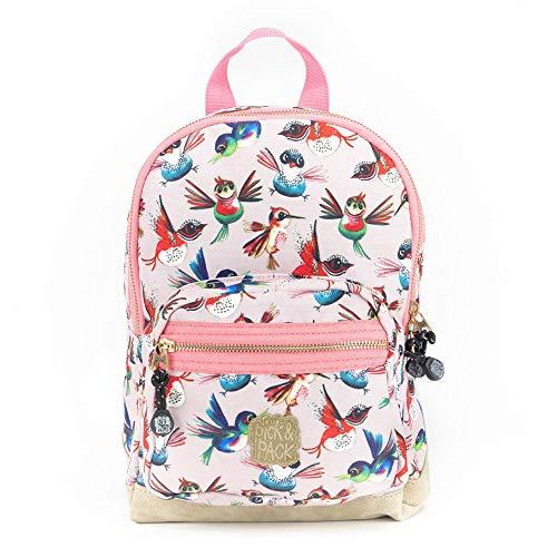 Pick & Pack Kinder Rucksack Birds 7L Backpack S 20141 Soft Pink (rosa)