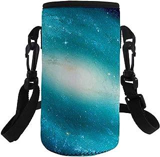 Trendy generous super cute Soft Neoprene Water Bottle Carrier Adjustable Bottle Holder Bags,Colour:Galaxy-2 (Color : Galax...