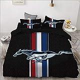 QWAS Ford Mustang Bettbezug, Auto Standard Bettbezug,
