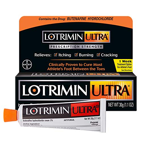 Lotrimin Ultra 1 Week Athlete's Foot Treatment, Prescription Strength Butenafine Hydrochloride 1%, Cures Most...