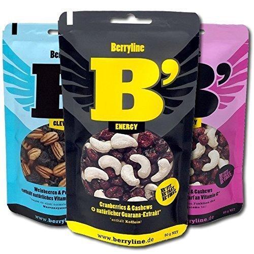 Berryline B´ im 3er-Pack Power volle Energy , 3 Packungen im Mix